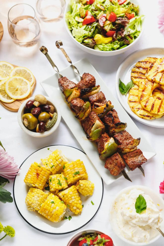 The Ultimate Asada Steak Skewers From The Fresh Market + Grilled Pineapple