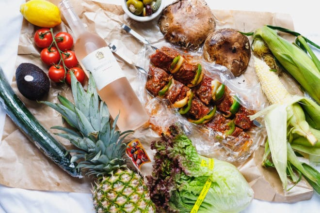 Grilled Pineapple and ingredients to make Father's Day Barbecue