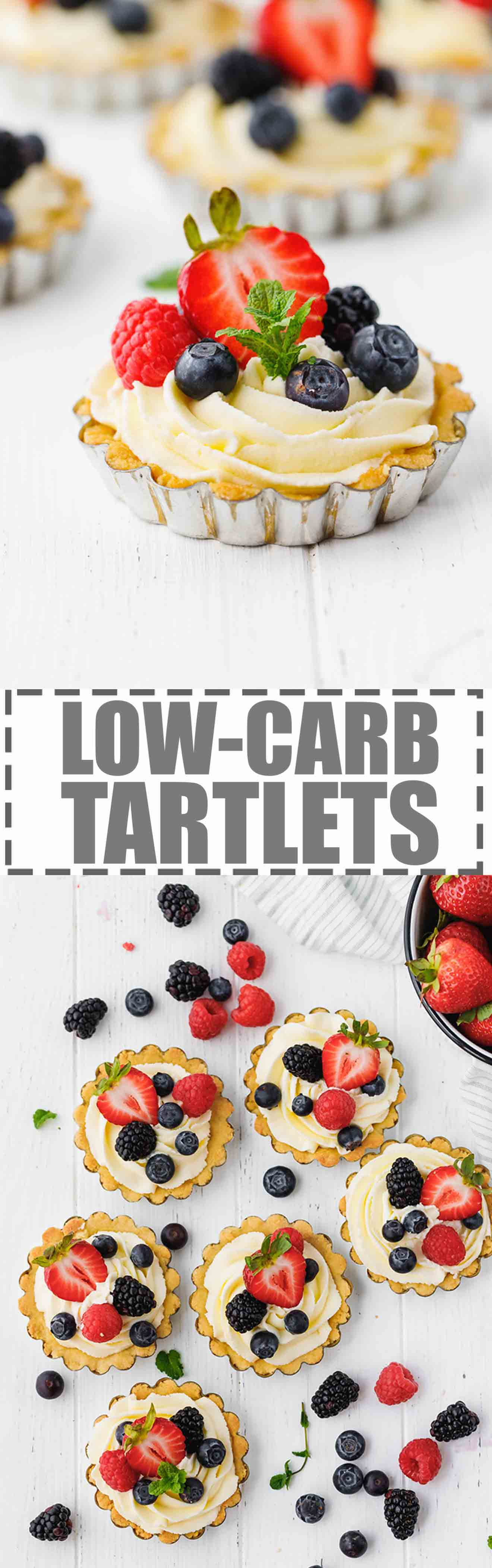 Low-Carb, Keto Tarts With Berries And Mascarpone Cream - individual desserts, made in mini tartlet pans, that are sugar and gluten-free, but at the same time very easy to make, festive. Great for parties or celebrations!#lowcarb #sugarfree #glutenfree #keto #ketodessert