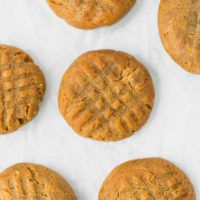 Keto Peanut Butter Cookies Recipe on a parchment paper