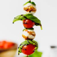 Caprese skewers on a stick