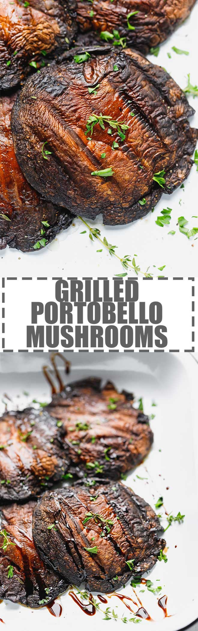 Make the perfect Grilled Portobello Mushrooms with minimal ingredients, under 15 minutes. Learn how to prepare portobello mushrooms for grilling, what toppings to use and different ways to serve them. #grilledmushrooms #potobellomushrooms