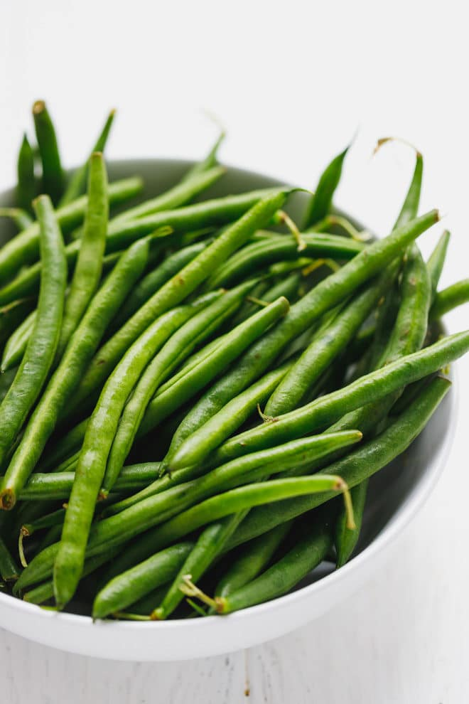Green beans in a bowl