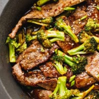 The best beef and broccoli recipe in a pan