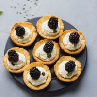 Low-Carb Lavender Blackberry Tarts