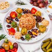 Kaukauna® Cheese Ball on a platter