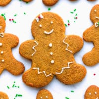 Keto gingerbread cookies on a plater