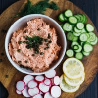 SMOKED SALMON DIP IN A BOWL