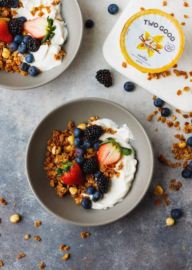 Easy Granola Recipe Served With Yogurt Cooking Lsl