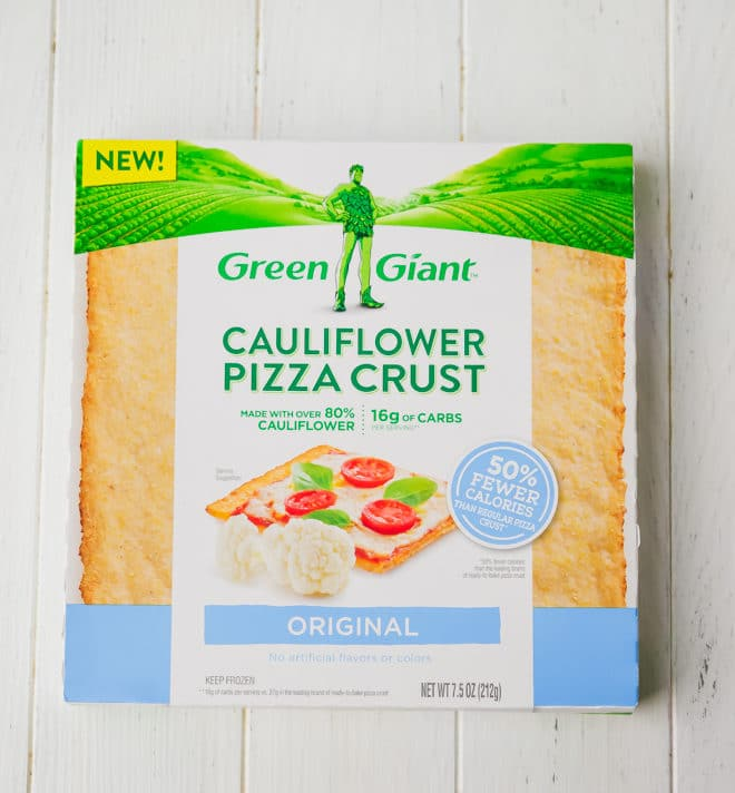 Green Giant Cauliflower Pizza Crust in a box