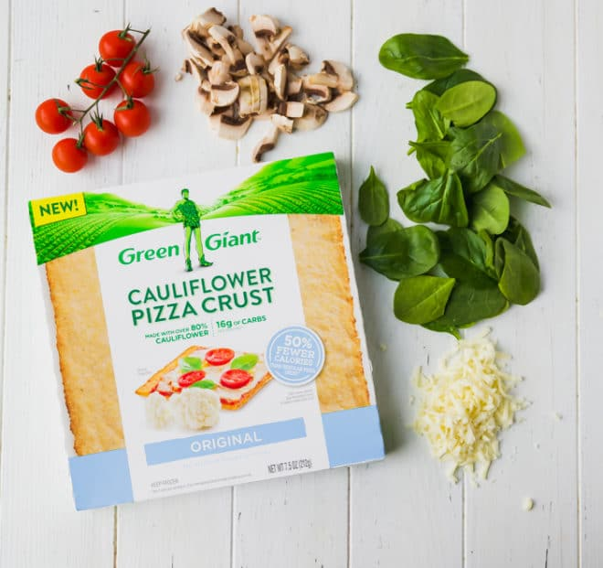 Green Giant cauliflower pizza crust in a b