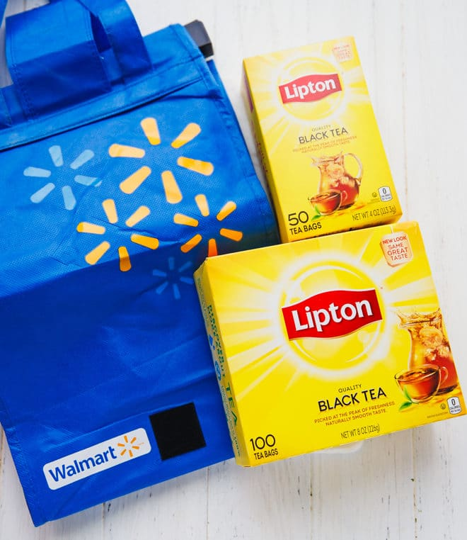 Lipton tea in boxes