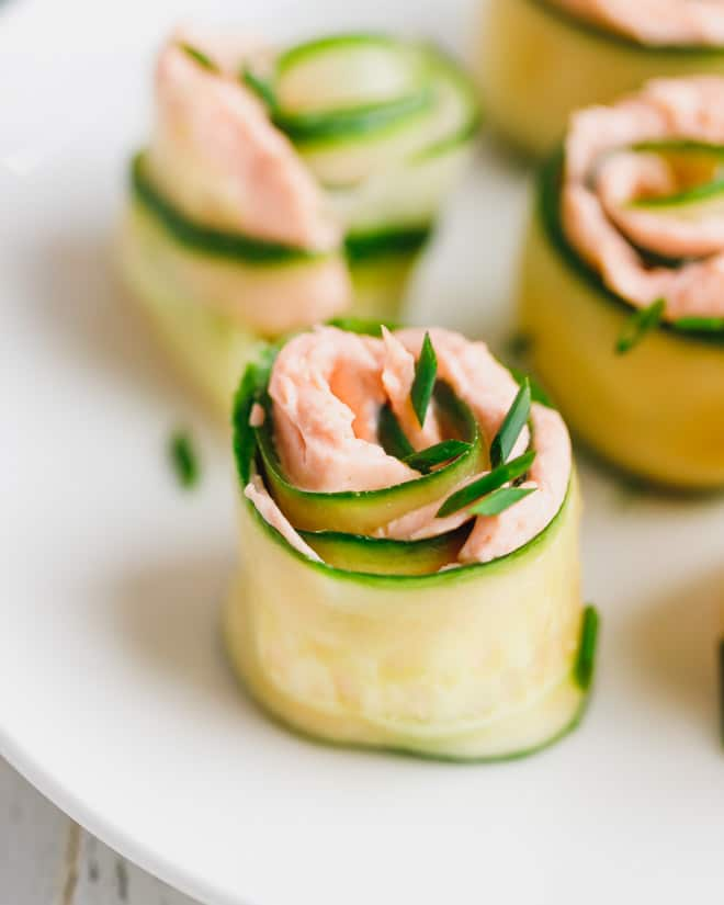 Smoked Salmon Appetizer With Cucumber Cucumber Salmon Rolls Cooking Lsl