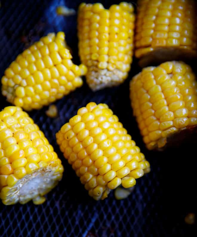 Corn on the cob in air frier basket