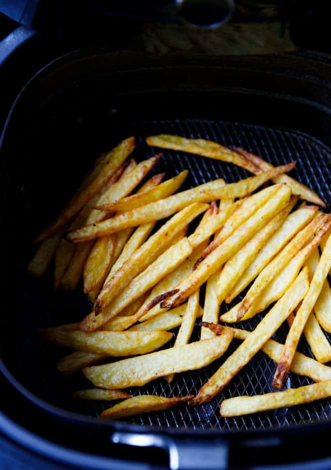Fries in Air fryer basket